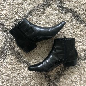 Shoes - Faux Leather Who What Wear Booties